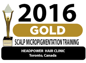 gold award-2016-scalp-micropigmentation-training
